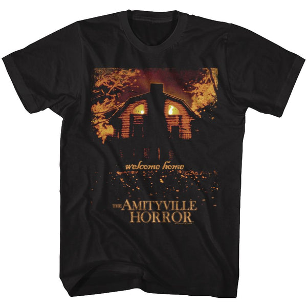 Amityville Horror-Welcome Home-Black Adult S/S Tshirt