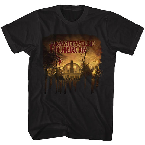 Amityville Horror-House-Black Adult S/S Tshirt