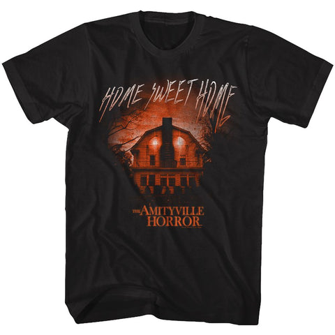 Amityville Horror-Get Out-Black Adult S/S Tshirt