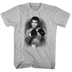 Muhammad Ali-1137-A3-Gray Heather Adult S/S Tshirt
