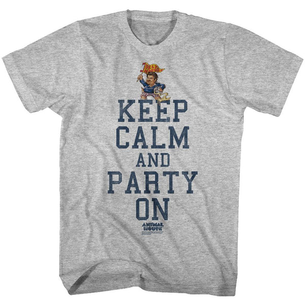 Animal House-Party On-Gray Heather Adult S/S Tshirt - Coastline Mall