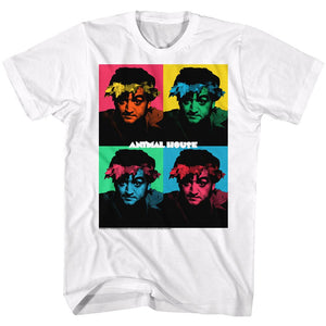 Animal House-Warhol-White Adult S/S Tshirt