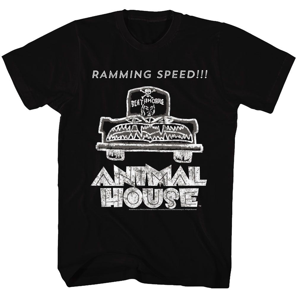 Animal House-Ramming Speed-Black Adult S/S Tshirt