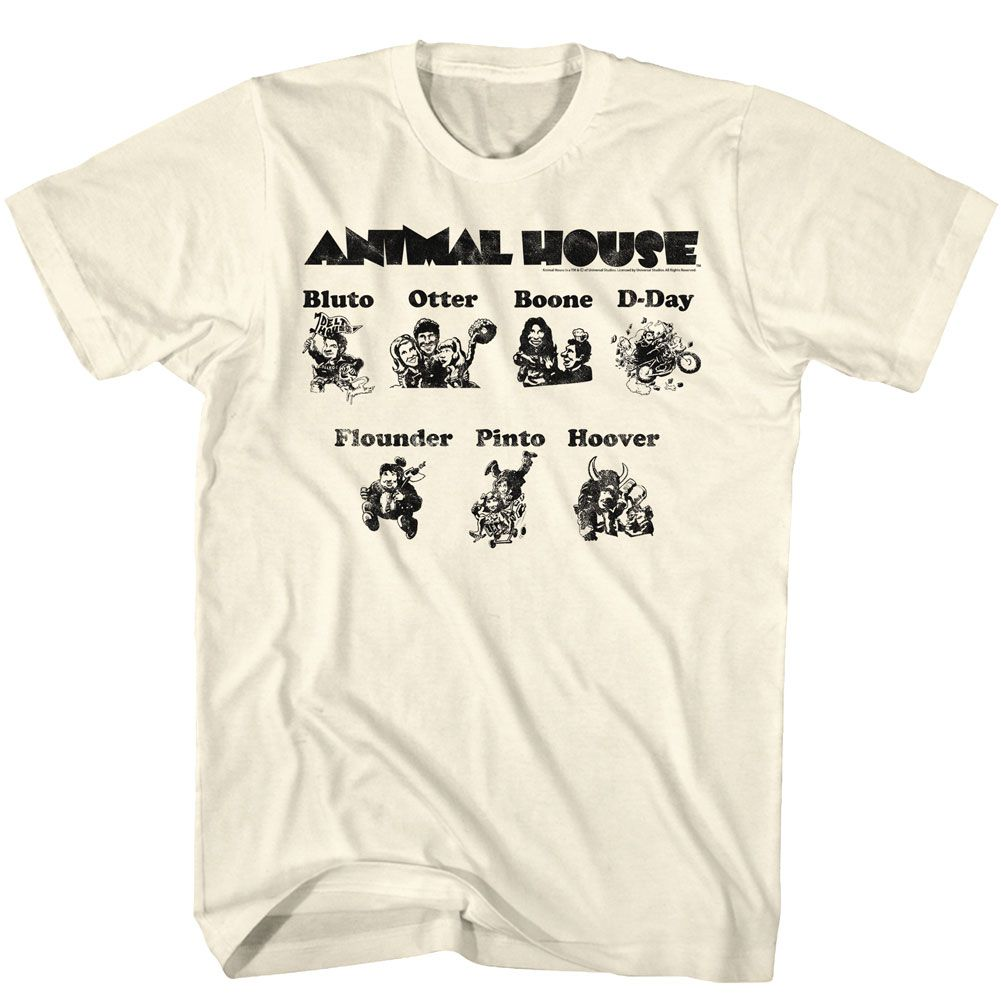 Animal House-Cartoons-Natural Adult S/S Tshirt