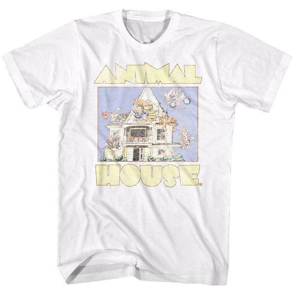Animal House-Cartoon-White Adult S/S Tshirt - Coastline Mall