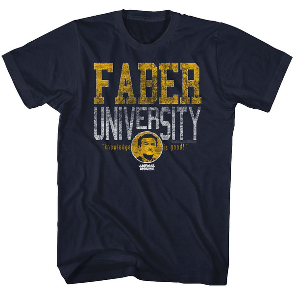Animal House-Faber University-Navy Adult S/S Tshirt