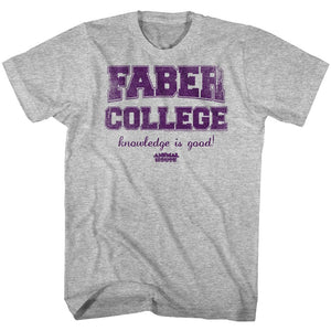 Animal House-Purp-Gray Heather Adult S/S Tshirt