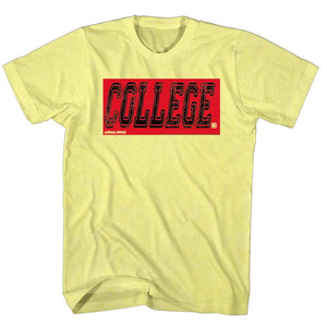 Animal House-College Oby-Yellow Adult S/S Tshirt