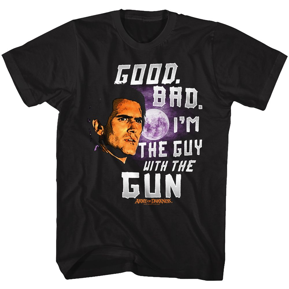 Army Of Darkness-Good Bad-Black Adult S/S Tshirt