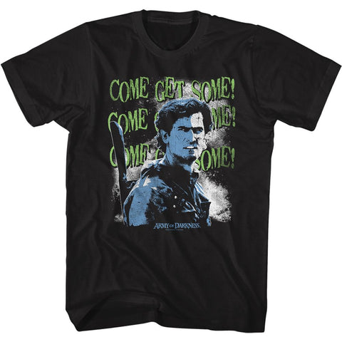 Army Of Darkness-Come Get Some-Black Adult S/S Tshirt