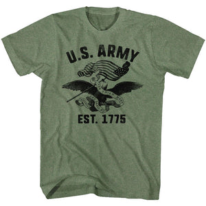 Army-The Union-Military Green Heather Adult S/S Tshirt