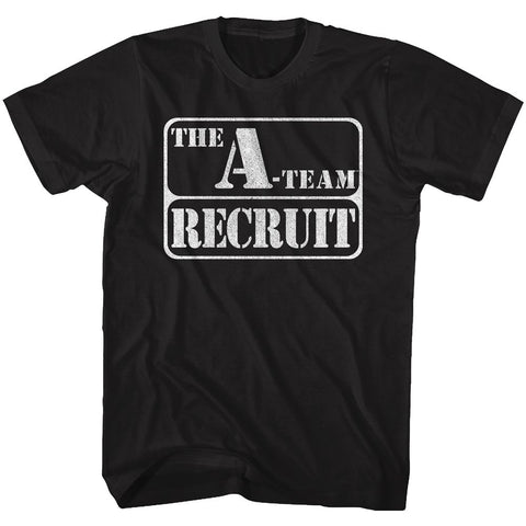 A Team - Ateam Recruit | Black Adult S/S T-Shirt