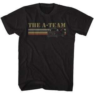 A Team - Van Lines | Black Adult S/S T-Shirt