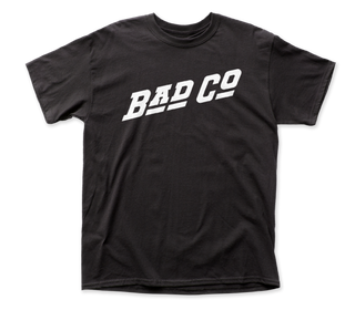 Bad Company Logo Black Short Sleeve Classic Fit Heavy Weight Adult T-Shirt tee - Coastline Mall