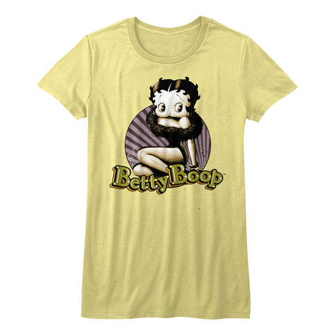 Betty Boop-Betty Circle-Yellow Juniors S/S Tshirt