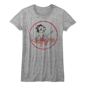 Betty Boop-Boopen It-Athletic Heather Ladies S/S Tshirt