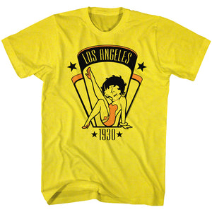 Betty Boop - 1930 | Yellow S/S Adult T-Shirt