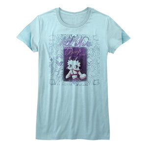 Betty Boop-Boop Soap-Light Blue Heather Juniors S/S Tshirt