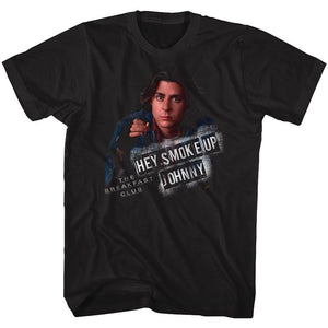 Breakfast Club-Smoke Up-Black Adult S/S Tshirt
