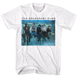 Breakfast Club-Posted Up-White Adult S/S Tshirt