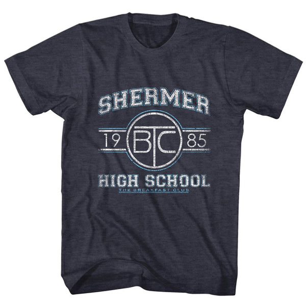 Breakfast Club-Shermer Hs-Navy Heather Adult S/S Tshirt - Coastline Mall