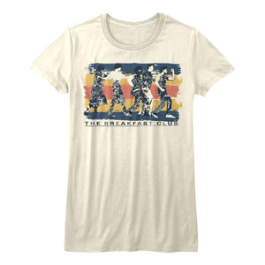 Breakfast Club-Dance Away-Vintage White Ladies Bella S/S Tshirt