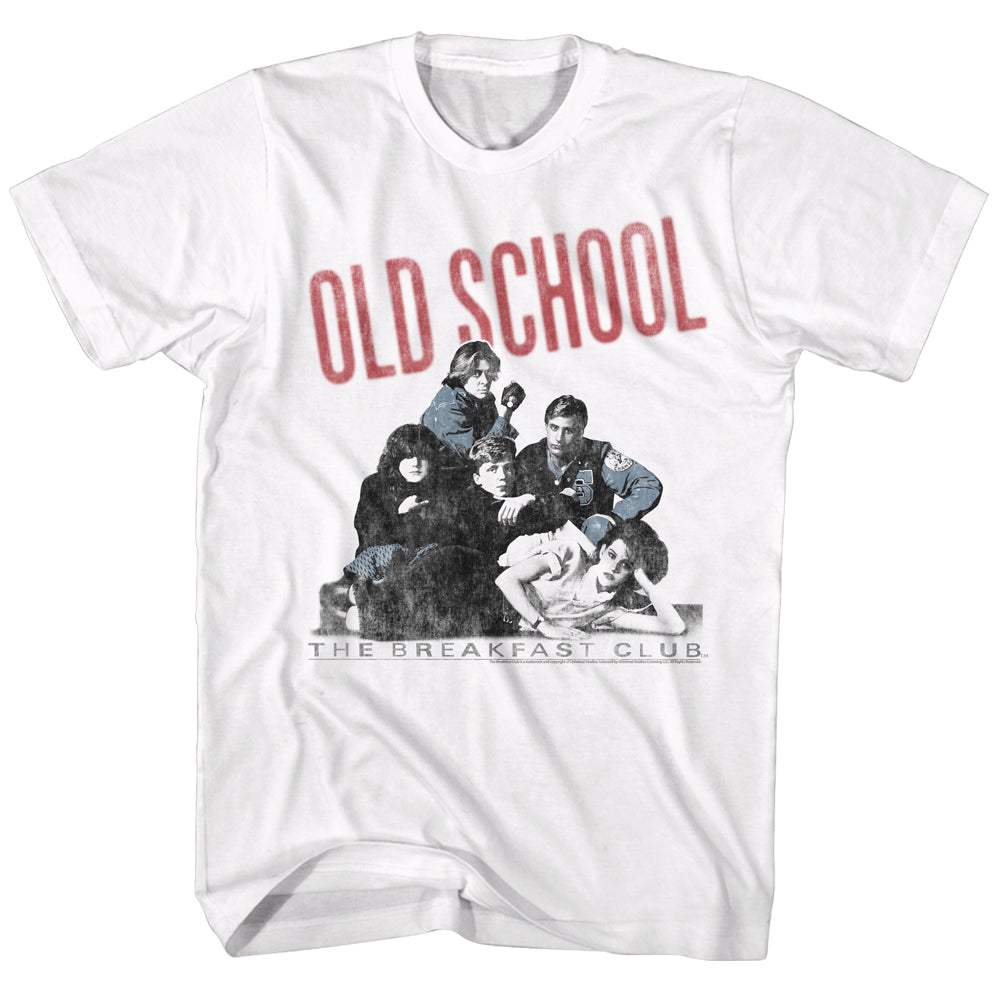 Breakfast Club-Old School-White Adult S/S Tshirt