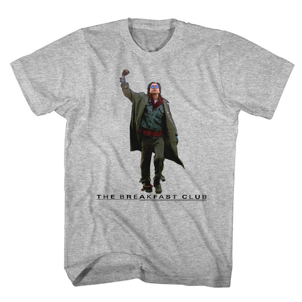 Breakfast Club-Fist Pump Cut Out-Gray Heather Adult S/S Tshirt - Coastline Mall
