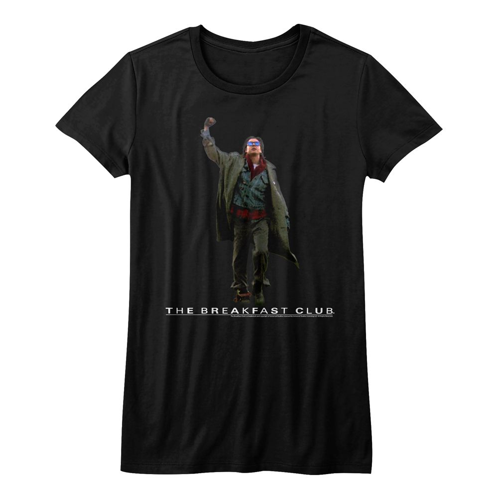 Breakfast Club-Fist Pump Cut Out-Black Ladies Bella S/S Tshirt