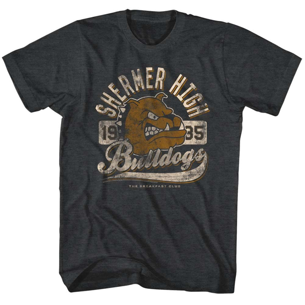 Breakfast Club-Bulldog-Black Heather Adult S/S Tshirt