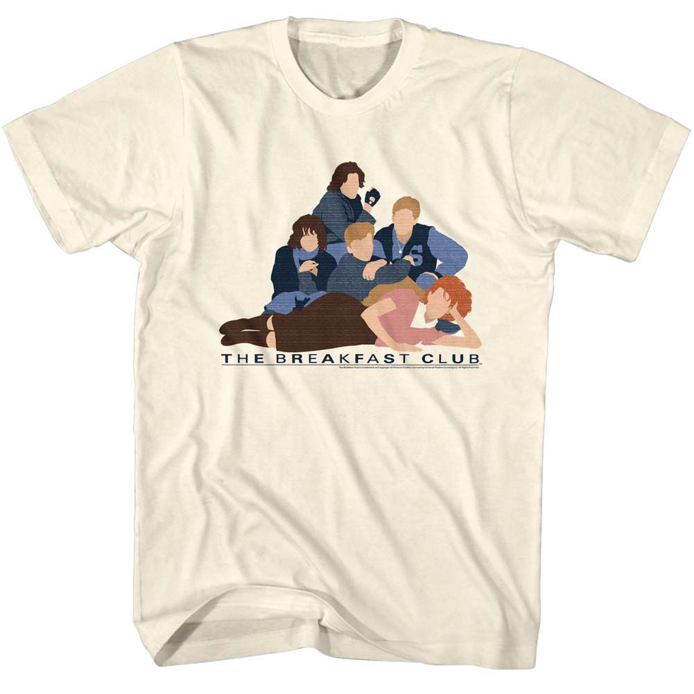 Breakfast Club-Vector Club-Natural Adult S/S Tshirt