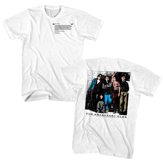 Breakfast Club-Club Letter-White Adult S/S Front-Back Print Tshirt - Coastline Mall
