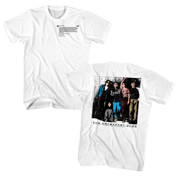 Breakfast Club-Club Letter-White Adult S/S Front-Back Print Tshirt