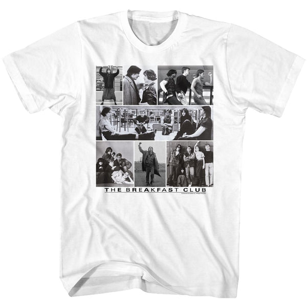 Breakfast Club-Collage-Y-White Adult S/S Tshirt