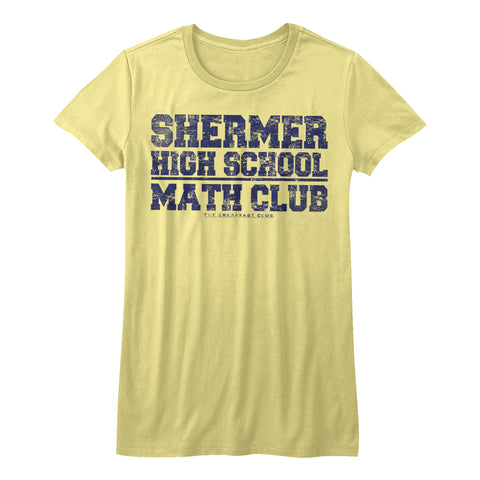 Breakfast Club-Math Club-Yellow Heather Juniors S/S Tshirt