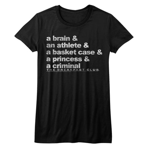 Breakfast Club-Word Up-Black Ladies Bella S/S Tshirt
