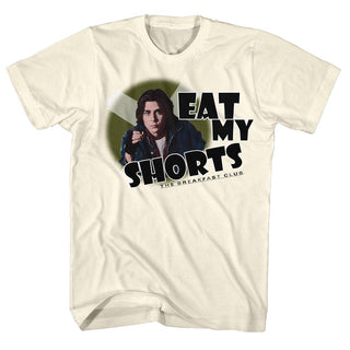 Breakfast Club-Eat My Shorts-Natural Adult S/S Tshirt - Coastline Mall