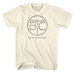 Breakfast Club-Circle Logo-Natural Adult S/S Tshirt