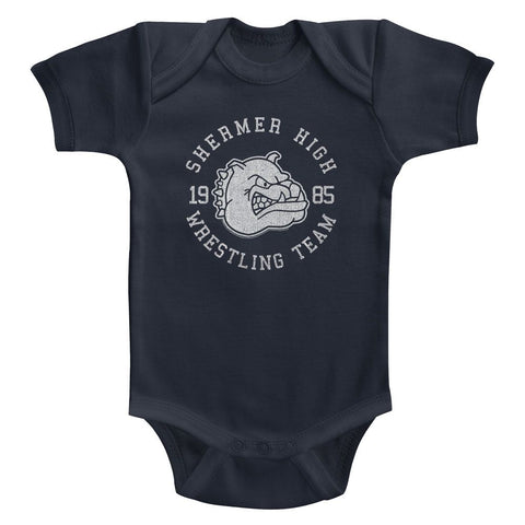 Breakfast Club-Wrestling Team-Navy Infant S/S Bodysuit