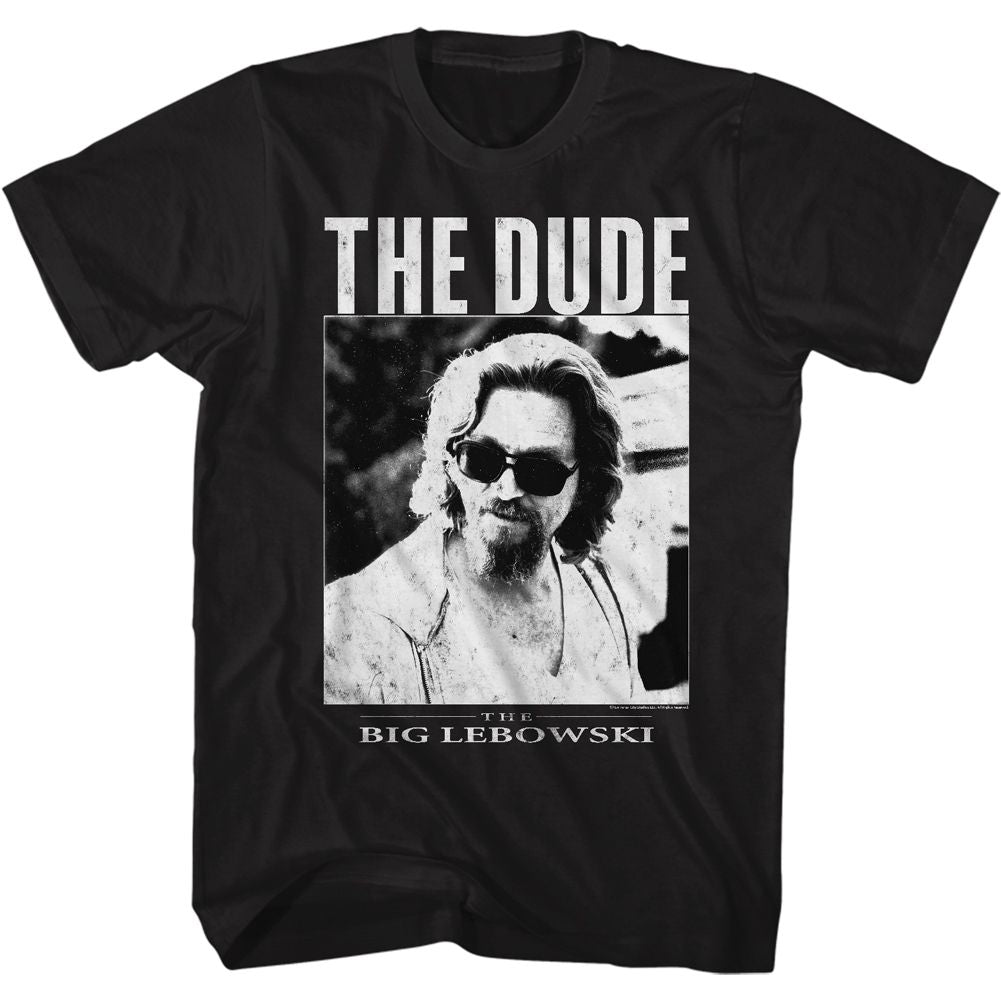 The Big Lebowski-The Dude-Black Adult S/S Tshirt