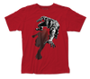 Black Panther Shadow Logo Red Short Sleeve Adult Soft Slim Fit Unisex Jersey T-Shirt tee - Coastline Mall