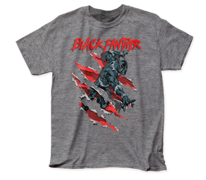 Black Panther Clawing adult tee