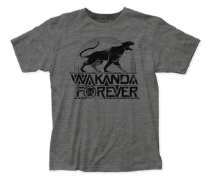 Black Panther Wakanda Forever fitted jersey tee