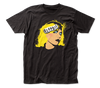 Blondie Face Logo Black Short Sleeve Adult Soft Slim Fit Unisex Jersey T-Shirt tee - Coastline Mall