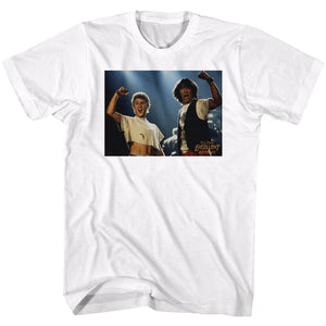 Bill And Ted-Bnt-White Adult S/S Tshirt