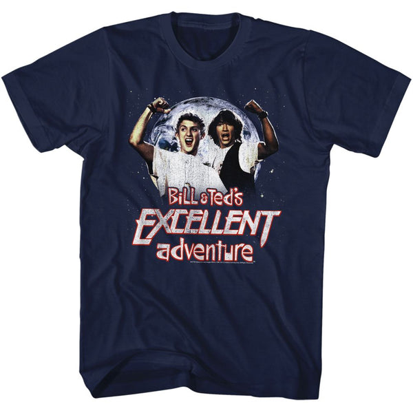 Bill And Ted-Excellent-Navy Adult S/S Tshirt