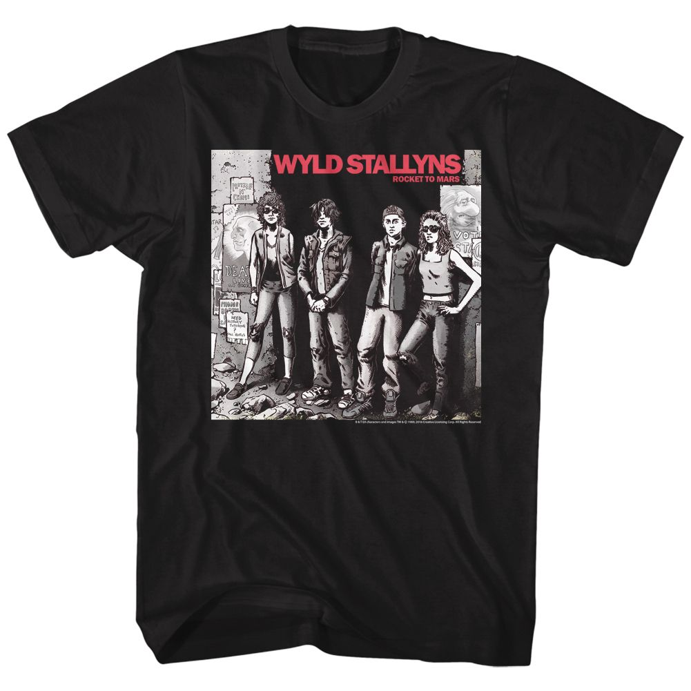 Bill And Ted-Wyld Stallyns-Black Adult S/S Tshirt
