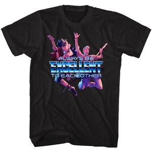 Bill And Ted-Always Excellent-Black Adult S/S Tshirt