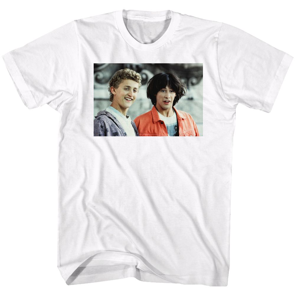 Bill And Ted-The Dudes-White Adult S/S Tshirt