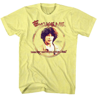 Bill And Ted-Excuse Me-Yellow Heather Adult S/S Tshirt - Coastline Mall